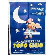 Afiche De Pelicula Las Aventuras Del Topo Gigio Año 1965