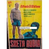 Afiche Saeta Rubia Alfredo Di Stéfano Donatella Marrosu 1956