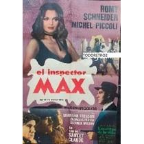 Afiche El Inspector Max Michel Piccoli, Romy Schneider 1971