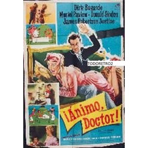 Afiche Ánimo, Doctor Dirk Bogarde, Muriel Pavlow 1957