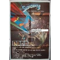 Afiche Superman 2 Con Gene Hackman Y Christopher Reeve 1980
