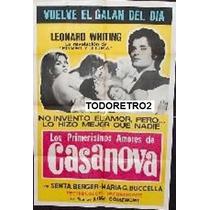 Afiche Los Primerísimos Amores De Casanova 1969