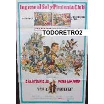Afiche Sal Y Pimienta Sammy Davis Jr., Peter Lawford 1968