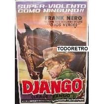 Afiche Django Franco Nero, José Bódalo 1966