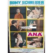 Afiche Ana Romy Schneider Jean-louis Trintignant 1962