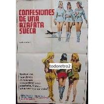 Afiche Confesiones De Una Azafata Sueca - Birte Tove - 1971