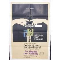 Afiche Se Alquila Una Modelo Anouk Aimée, Gary Lockwood 1969