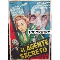Afiche El Agente Secreto John Gielgud, Peter Lorre 1936