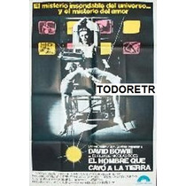 Afiche El Hombre Que Cayo A La Tierra David Bowie 1976
