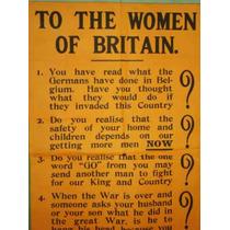 Poster/propaganda.primera Guerra Mundial. Inglés. Mujeres.