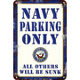 Carteles De Chapa 60x40 Parking Only Navy Parking Pa-101