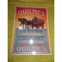 Quilmes - Poster Propaganda - Publicidad Antigua