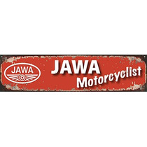 Cartel De Chapa Publicidad Retro Logo Jawa Apai 061