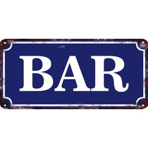 Carteles Vintage Chapa 38x18cm Fábrica A Pedido Bar Se-06