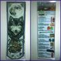 Banner Cartel Lamina Color 33x110 Envarillado Para Colgar $