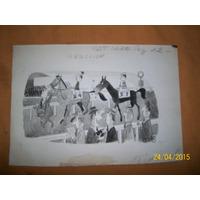 Dibujo Original Poch Publicado En Rev Patoruzu 1420 - Tinta