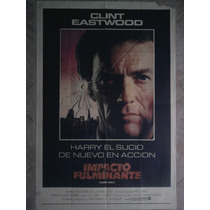 Impacto Fulminante 1321 Clint Eastwood Afiche De 1.10 X 0.75