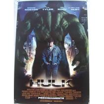 Poster Cine Hulk (los Vengadores)