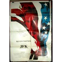 Jfk Kevin Costner Afiche Orig 1991 Donald Sutherland N298
