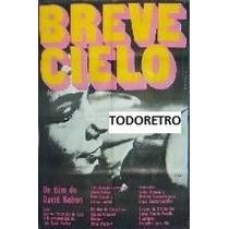 Afiche D Cine Breve Cielo Con Alberto Fernández De Rosa 1969