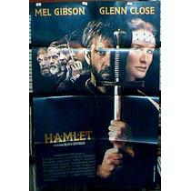 Hamlet Mel Gibson Glenn Close !!! Afiche Cine Orig 1990 N521