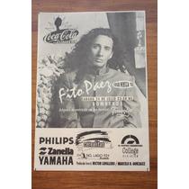 Fito Páez - Lote De 2 Flyers 1985 Y 1993 - Medianos Excelent