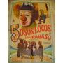 Afiche De Cine 5 Osos Locos Y Un Payaso Antiguo