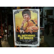 Antiguo Afiche De Cine El Retorno De Bruce Lee