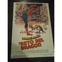 Afiche Original Reto Del Dragón Hombre Araña