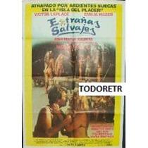 Afiche De Cine Extrañas Salvajes - Victor Laplace - 1988