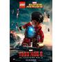 Cuadros De Lego Iron Man, Laminas En Bastidor O Chapa.