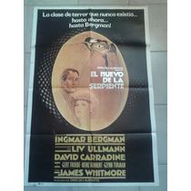 Afiche De El Huevo De La Serpiente - Envio Gratis !!