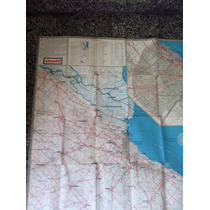 Mapa Antiguo Provincia De Buenos Aires A.c.a.año 1967-ruta