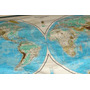 Antiguos 2 Planisferios Mapamundi + De 1 Metro (5434)