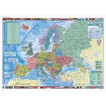 Mapa Europa Doble Faz (físico/político), Laminado, Varillado