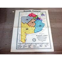 Mapa Buenos Aires Division Electoral 24,5 X 30,5