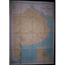 Antiguo Mapa Buenos Aires Año 1945 -red Caminera Principal.