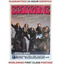 Scorpions - Poster Afiche Original Tour 1989 Alemania