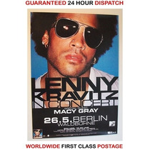 Lenny Kravitz Afiche Poster Original Tour Berlin 2001