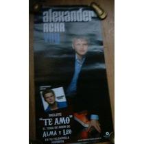 Poster Promocional Alexander Acha Nuevo Cd Voy No Dvd