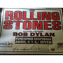 Afiche Publicitario.1ra. Vez The Rolling Stones Arg.