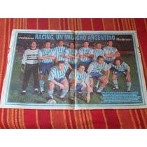 Poster De Racing, Un Milagro Argentino Cronica 1999
