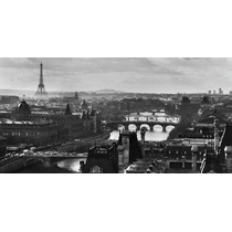 Lamina Importada De Paris, Torre Eiffel Y Sena - 100 X 50 Cm