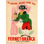Posters Publicidad Chapa Gruesa 20x30cm Fernet Branca Dr-069