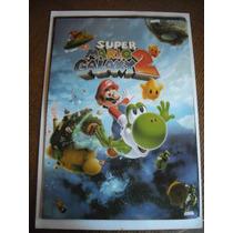 Imperdible Poster Original Video Juego Super Mario Galaxy 2