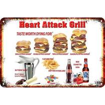 Carteles Antiguos Poster 60x40cm Heart Attack Grill Al-066
