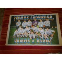 Poster Seleccion Argentina 1997 Clasificacion Francia 98