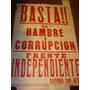 Antiguo Afiche Callejero De Papel Basta De Corrupción
