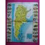 Antigua Lamina Revista Billiken Mapa Ilust Fauna Argentina