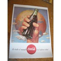 Imperdible Poster Reproduccion Publicidad Coca Cola Mundo